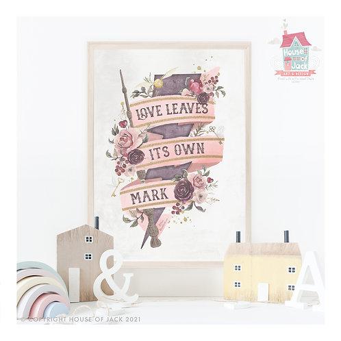 Love Mark Art Print