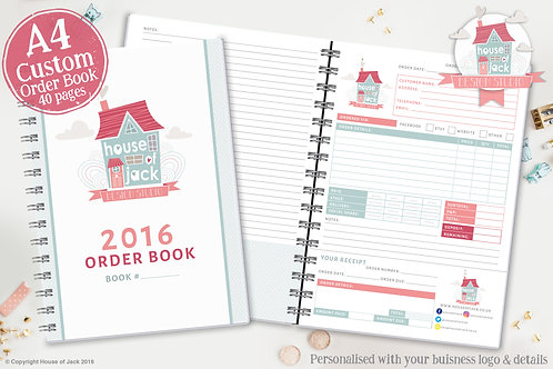 Custom A4 Order Book (40 Pages