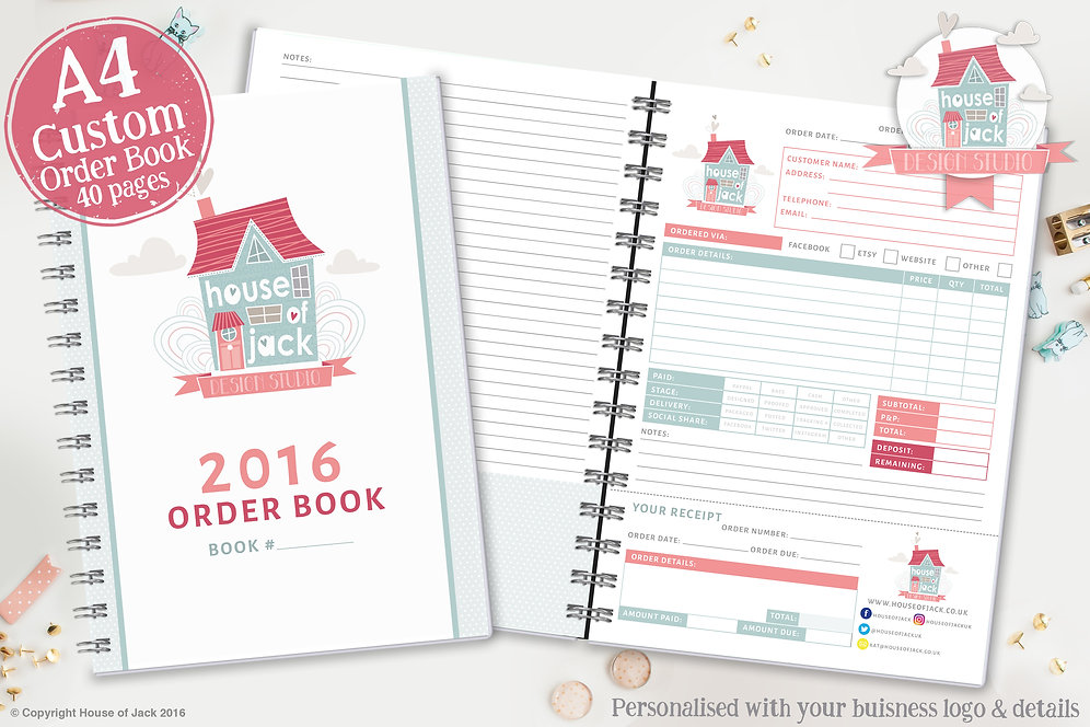 Custom A4 Order Book (40 Pages | house-of-jack