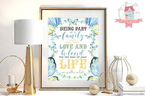 Family Love Watercolour Art Print