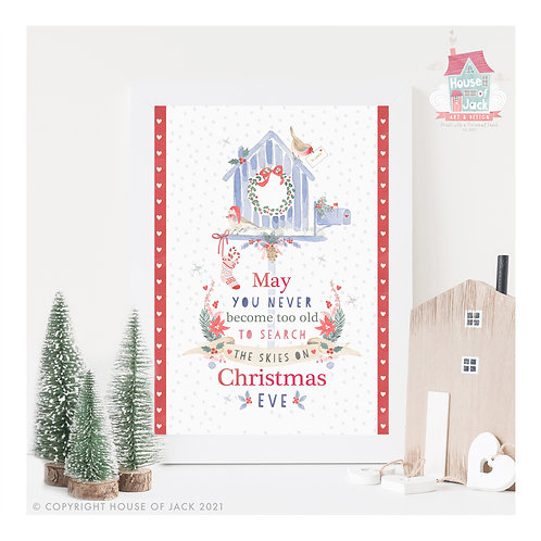 Christmas Skies - Personalised Art Print