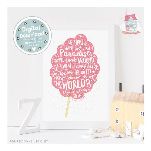 Paradise Digital Art Print