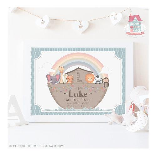 Noah's Ark Personalised Art Print