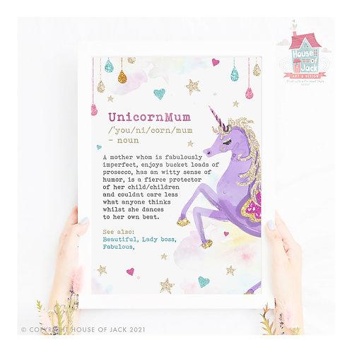 Unicorn Mum Art Print