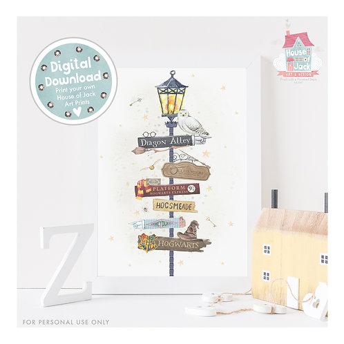 Wizard Lamp Digital Art Print