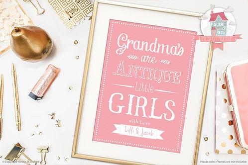 Grandmas Are Personalised Art Print