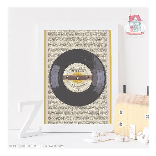 Personalised Vinyl Record - Personalised Art Print