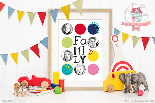 Family Photographic Personalised Art Print