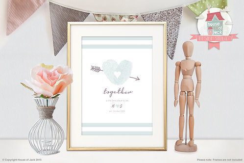 Together Personalised Art Print