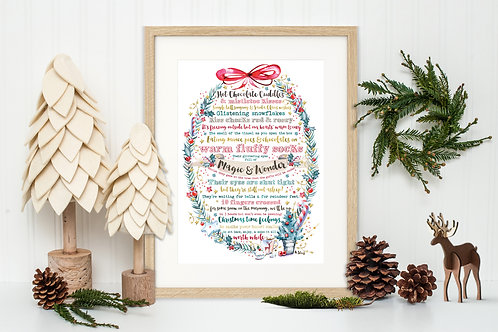Christmas Poem - Art Print