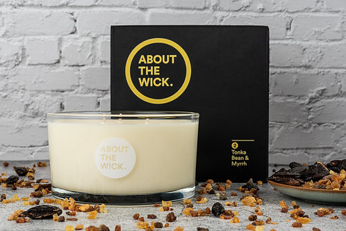 Tonka Bean luxury scented soy candle (400G)
