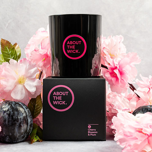 Cherry Blossom & Plum scented luxury soy candle (220G)