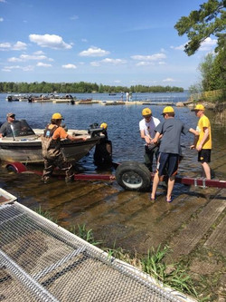boat launch crew