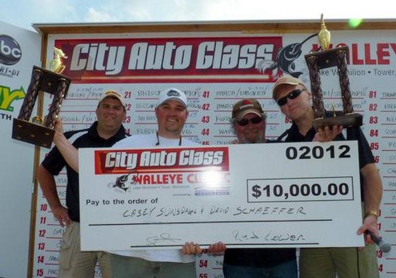 Winners!  2012 City Auto Glass Walleye Classic