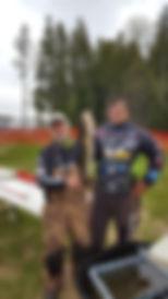 Greg Clusiau & his teammate Andy Walsh