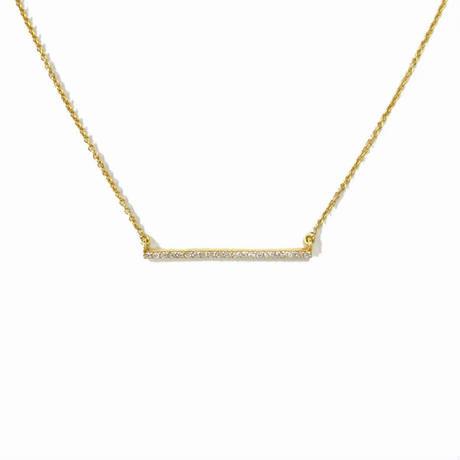 ダイヤモンド マイクロパヴェ バーネックレス K18YG