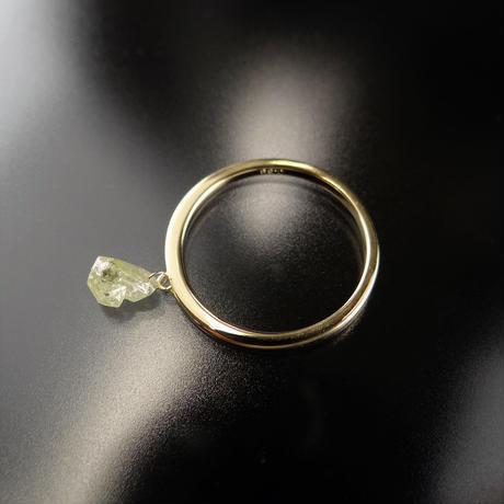 K18YG ダイヤモンド原石のスウィングリング 0.68ct #13
