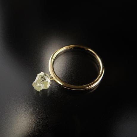 K18YG ダイヤモンド原石のスウィングリング 1.03ct #11