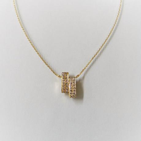K18YG メレダイヤモンド モチーフネックレス