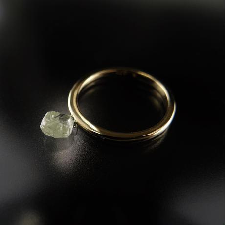 K18YG ダイヤモンド原石のスウィングリング 0.77ct #9