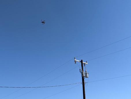 Drones Harden the Grid