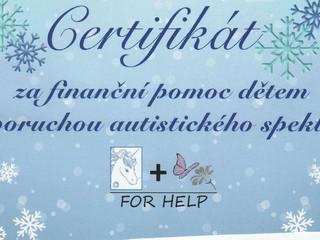 Podpořili jsme organizaci For Help