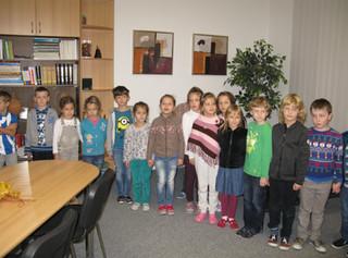 Návštěva prvňáčků u vedení školy