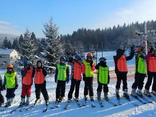 Sedmáci vyrazili na lyžák na Horní Bečvu
