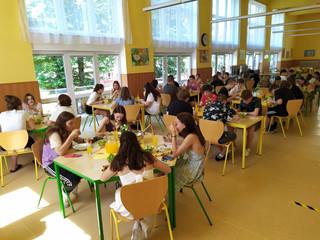 Slavnostní oběd s žáky devátého ročníku