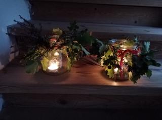 Čtvrťáci vyráběli podzimní svícny