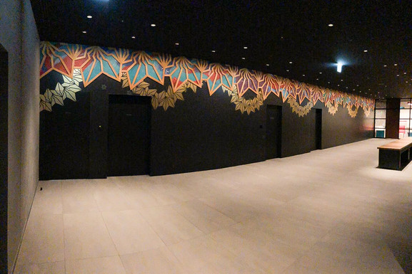 mural with BAKIBAKI,mark at Tokyo Bay Shiomi Prince Hotel