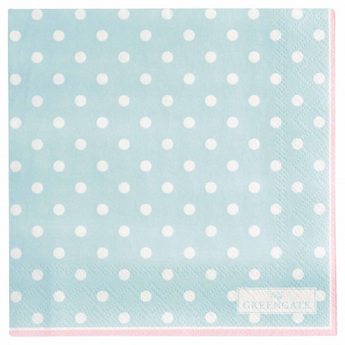 Papierservietten Spot pale blue