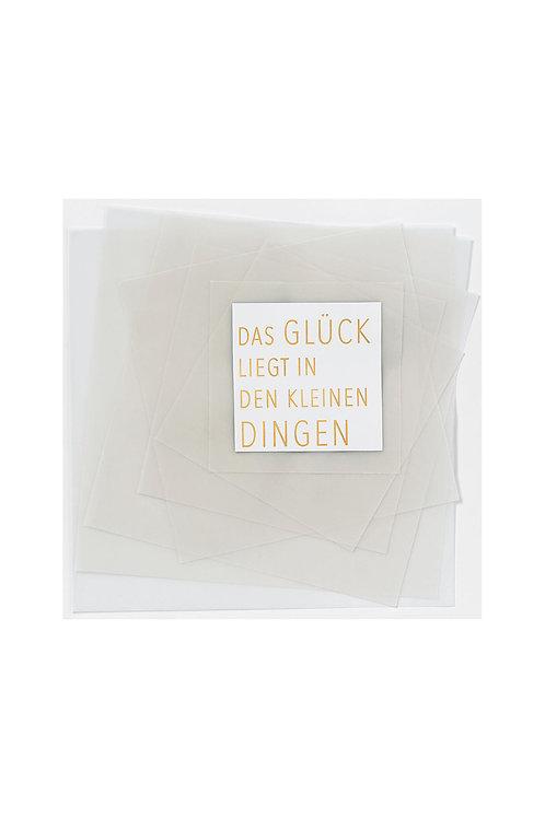 Transparente Poesiekarte 'Glück'