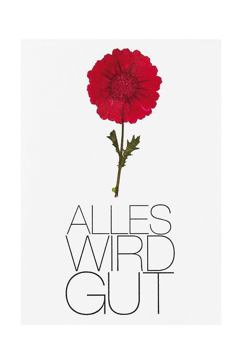 Blütenkarte 'Alles wird gut'