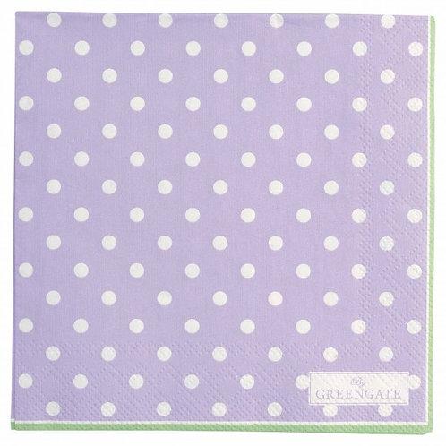 Papierservietten Spot lavendar small 20Stk.