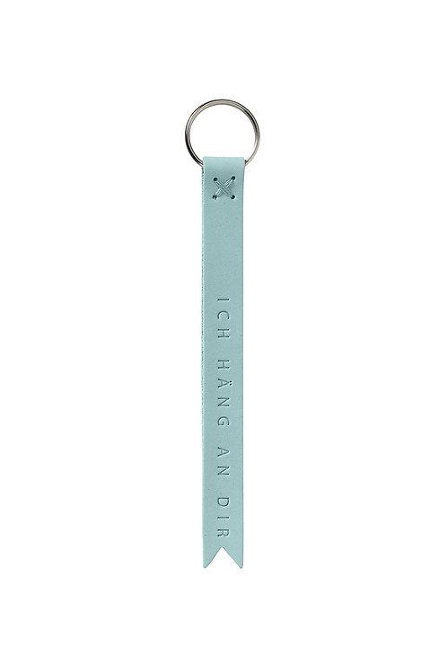 Leder Schlüsselanhänger 'Ich häng an dir'