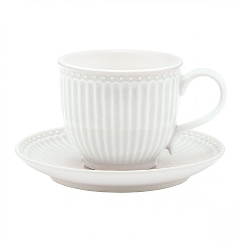 Cup & saucer Alice white