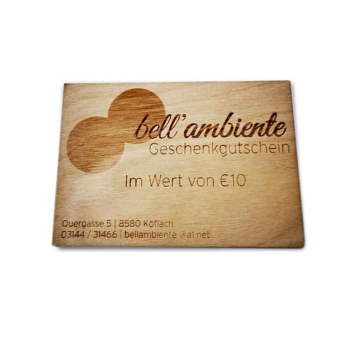 bell'ambiente Gutschein 10 EUR