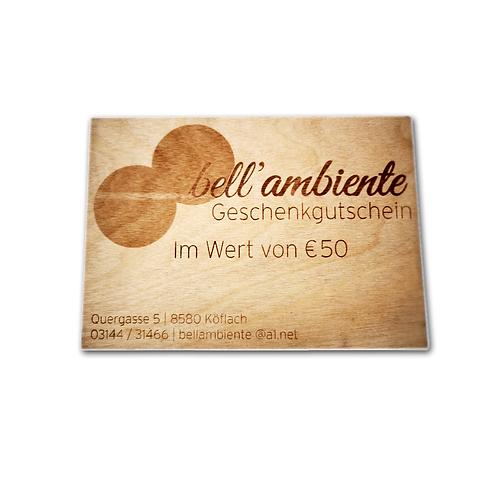 bell'ambiente Gutschein 50 EUR