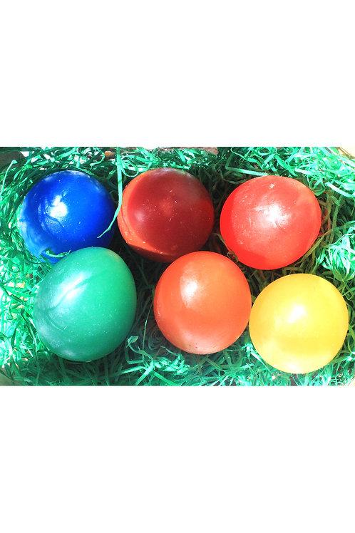 Duftende Seifeneier in versch. Farben (einzeln)
