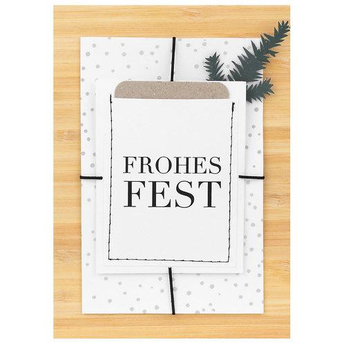 """Weihnachtsgeschenkkarte """"Frohes Fest"""""""