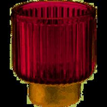 Kerzenhalter Lila/gold medium