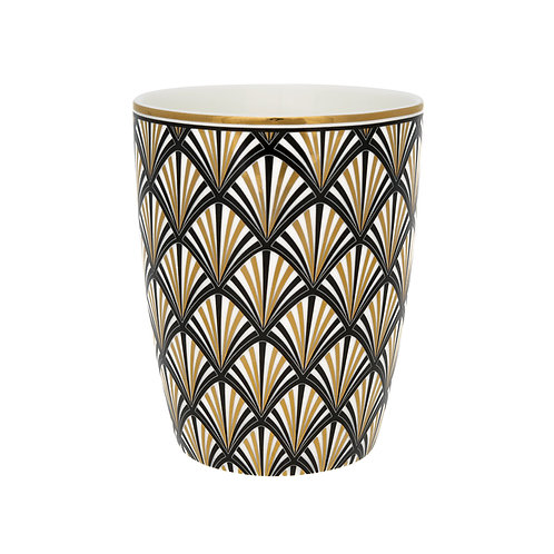 Latte cup Celine black