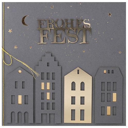 """Weihnachtskarte """"FROHES FEST"""""""