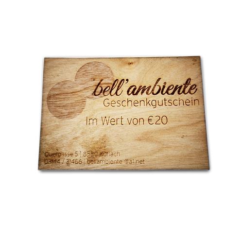 bell'ambiente Gutschein 20 EUR