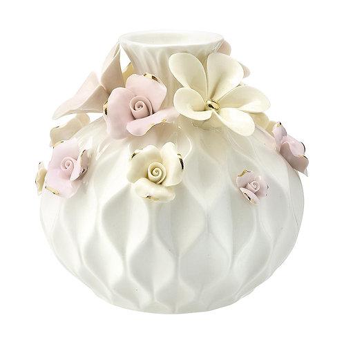 Vase Daisy dusty cream w/gold