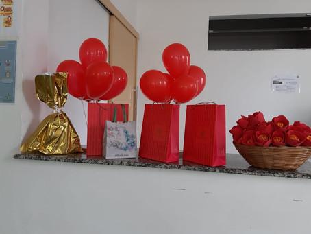Hemodiálise da Santa Casa de Misericórdia de Guaçuí comemora o dia das Mães.