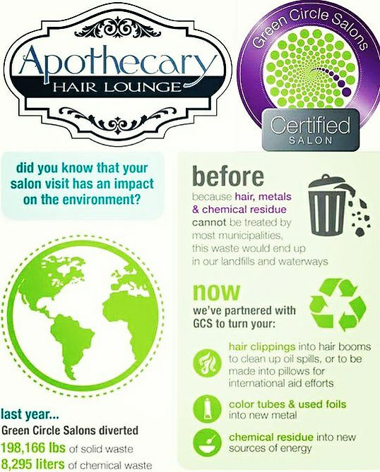Green Circle partnership with Apothecary Hair Lounge