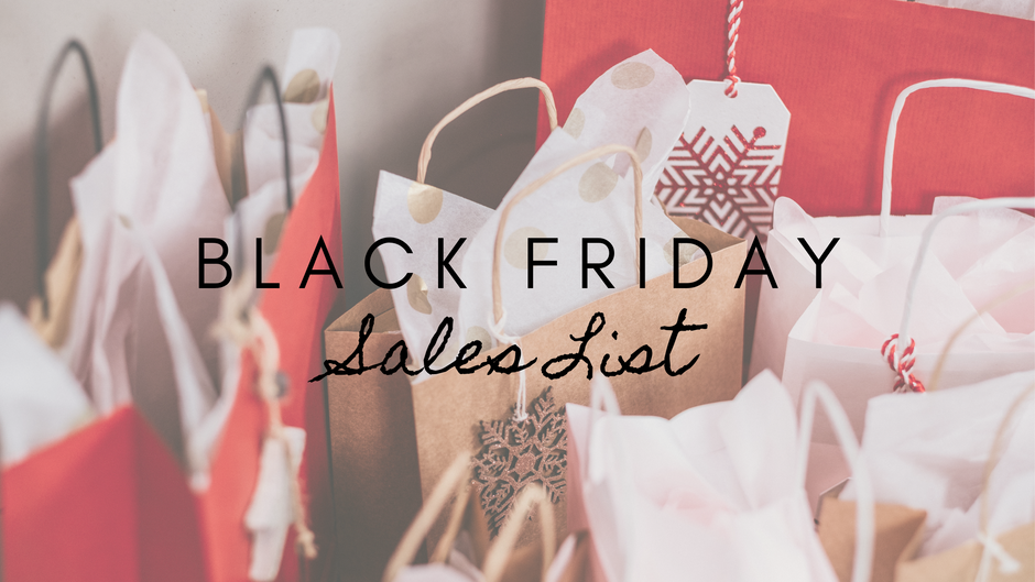 Black Friday Sales List