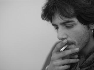 Juan Habichuela (nieto) durante una sesión de grabación.